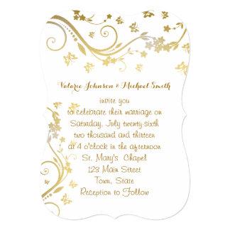 Elegant Gold, Custom Wedding Invitation