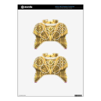 Elegant gold damask xbox 360 controller decal