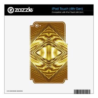 Elegant gold diamond pattern iPod touch 4G decal