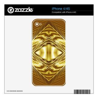 Elegant gold diamond pattern skins for iPhone 4S
