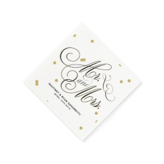 Elegant Gold Dot Napkin Disposable Napkin