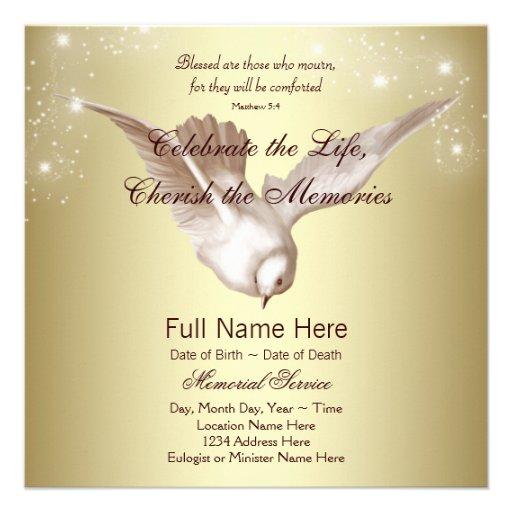memorial invitations templates