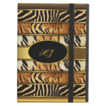 Elegant Gold Elite Classy Gold Mixed Animal 5 iPad Air Case