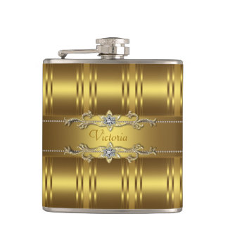 Elegant Gold Flask