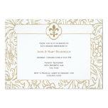 Elegant Gold Fleur de Lis Event Invitations