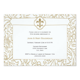 Elegant Gold Fleur de Lis Event Invitations