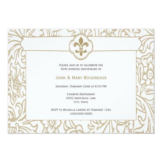 elegant gold fleur de lis event invitations zazzle com