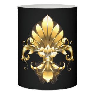 Elegant Gold Fleur de Lis LED Flameless Candle