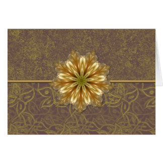 Elegant Gold Floral Card