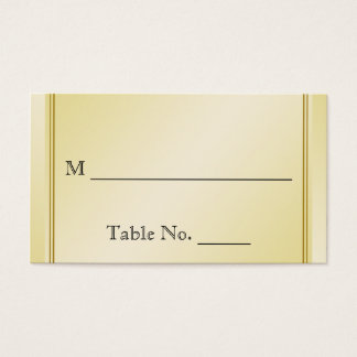 Elegant Gold Floral Gay Wedding Place Cards