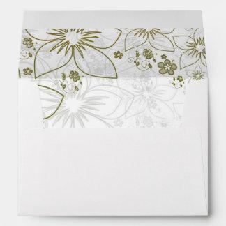 Elegant Gold Floral Lined Envelope