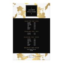 Elegant Gold Floral Pattern on White II Flyer
