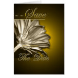 Elegant Gold Floral  Save the Date Greeting Card