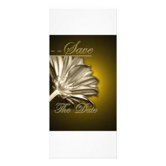 Elegant Gold Floral  Save the Date Full Color Rack Card