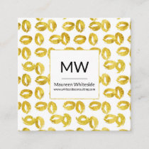 Elegant Gold Foil Abstract Ovals Business Card