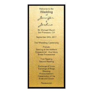 Elegant Gold Foil Black Design Wedding Programs