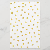 Elegant Gold Foil Confetti Dots