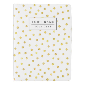 Elegant Gold Foil Confetti Dots Extra Large Moleskine Notebook Cover With Notebook