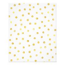 Elegant Gold Foil Confetti Dots Flyer