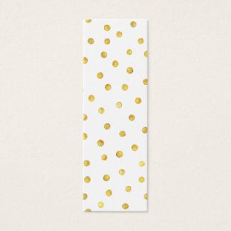 Elegant Gold Foil Confetti Dots Mini Business Card