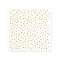 Elegant Gold Foil Confetti Dots Paper Napkin