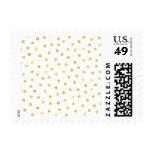 Elegant Gold Foil Confetti Dots Postage Stamp