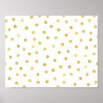 Elegant Gold Foil Confetti Dots Poster