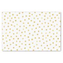 Elegant Gold Foil Confetti Dots Tissue Paper