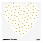 Elegant Gold Foil Confetti Dots Wall Sticker