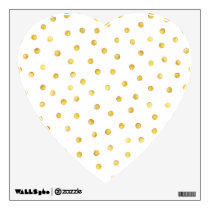 Elegant Gold Foil Confetti Dots Wall Sticker