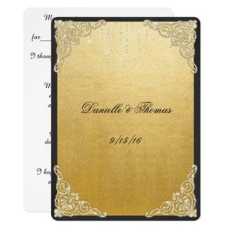Elegant, Gold Foil, Glitter, Wedding Advice Invitation