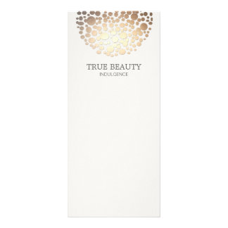 Elegant Gold Foil Look Circles Off White Customized Rack Card