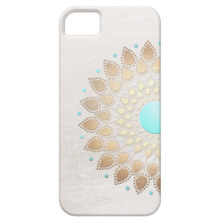Elegant Gold Foil Look Lotus Flower iPhone SE/5/5s Case