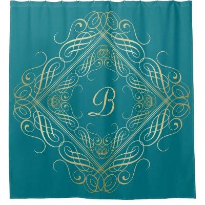Faux Metallic Gold Lame\' Fabric Crumpled Shower Curtain | Zazzle