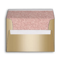 Elegant Gold Foil Modern Rose Gold Glitter Envelope