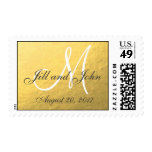 Elegant Gold Foil Monogram Save the Date Stamps