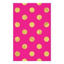 Elegant Gold Foil Polka Dot Pattern - Gold & Pink Flyer