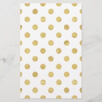 Elegant Gold Foil Polka Dot Pattern - Gold & White