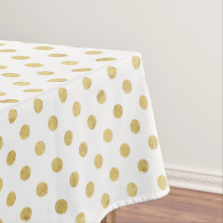 gold polka dots pattern tablecloths zazzle