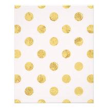 Elegant Gold Foil Polka Dot Pattern - Pink & Gold Flyer