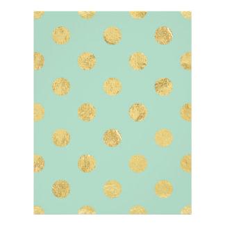 Elegant Gold Foil Polka Dot Pattern - Teal Gold Flyer