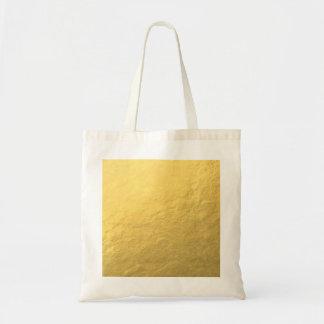 Elegant Gold Foil Printed Canvas Bags