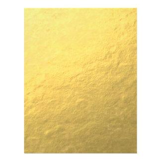 Elegant Gold Foil Printed Full Color Flyer
