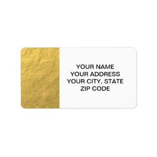 Elegant Gold Foil Printed Personalized Address Label