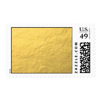 Elegant Gold Foil Printed Postage