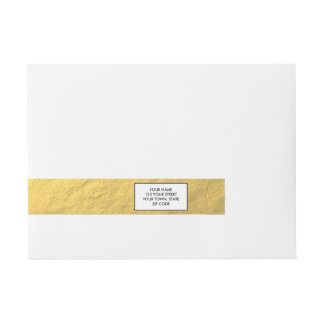 Elegant Gold Foil Printed Wraparound Address Label