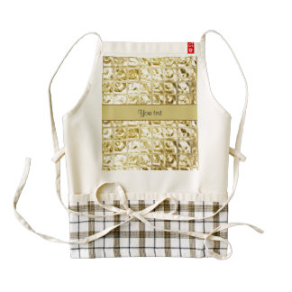 Elegant Gold Foil Squares Zazzle HEART Apron