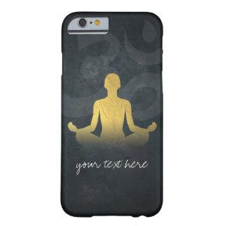 Elegant Gold Foil Yoga Meditation Pose Om Symbol Barely There iPhone 6 Case