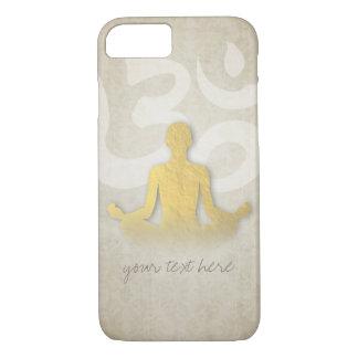 Elegant Gold Foil Yoga Meditation Pose Om Symbol iPhone 7 Case
