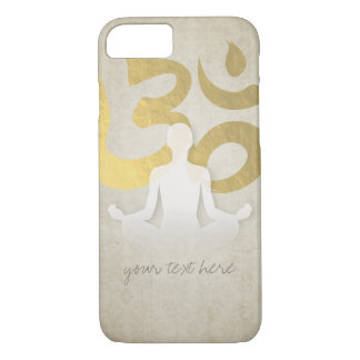 Elegant Gold Foil Yoga Meditation Pose Om Symbol iPhone 8/7 Case